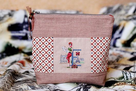 Женские сумки ручной работы. Ярмарка Мастеров - ручная работа. Купить Именные косметички. Handmade. Комбинированный, хлопок