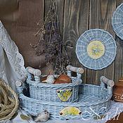 """Плетеный набор для кухни """"Предчувствие весны"""""""