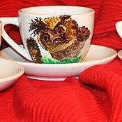 """Посуда ручной работы. Ярмарка Мастеров - ручная работа Сервиз """"Ежик в тумане"""" (8 предметов) (0190). Handmade."""