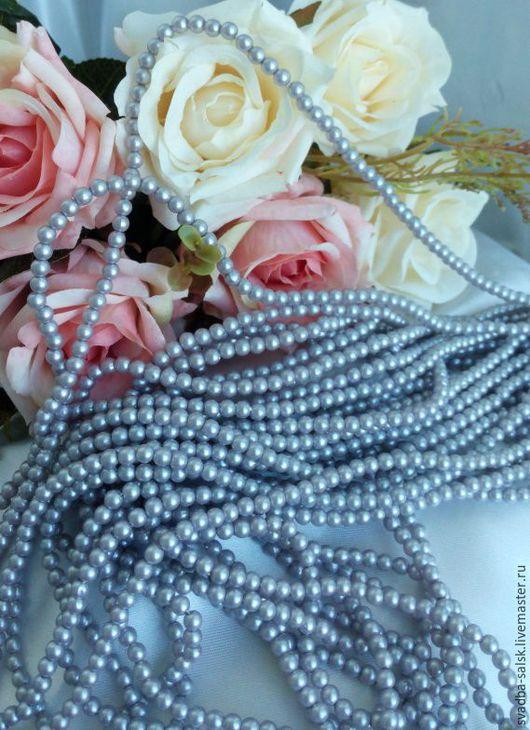 Для украшений ручной работы. Ярмарка Мастеров - ручная работа. Купить Бусины (5 мм) (серый). Handmade. Серый