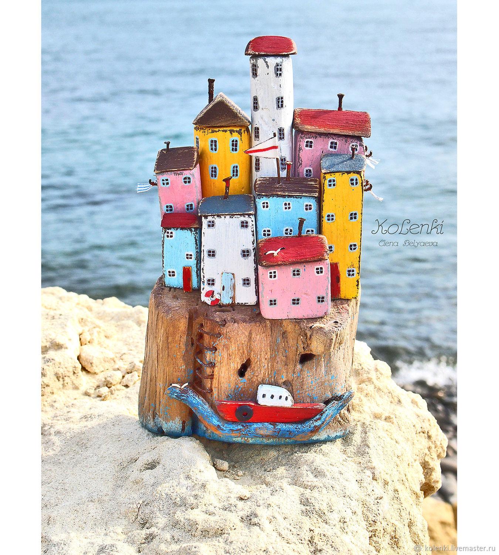 """Морской мирок """"Воспоминания о Чинкве Терре"""" driftwood, Статуэтки, Новороссийск,  Фото №1"""