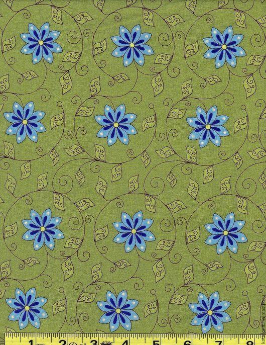 Шитье ручной работы. Ярмарка Мастеров - ручная работа. Купить 1291 Американская ткань. Handmade. Зеленый, ткань с рисунком, ткань
