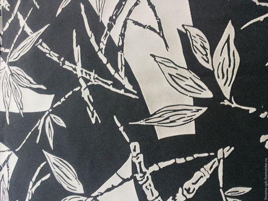 Шитье ручной работы. Ярмарка Мастеров - ручная работа. Купить Ткань мебельная, отрез 45х45. Handmade. Чёрно-белый