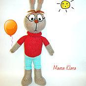 Куклы и игрушки ручной работы. Ярмарка Мастеров - ручная работа Воспитанный кролик, вязаная спицами игрушка. Handmade.