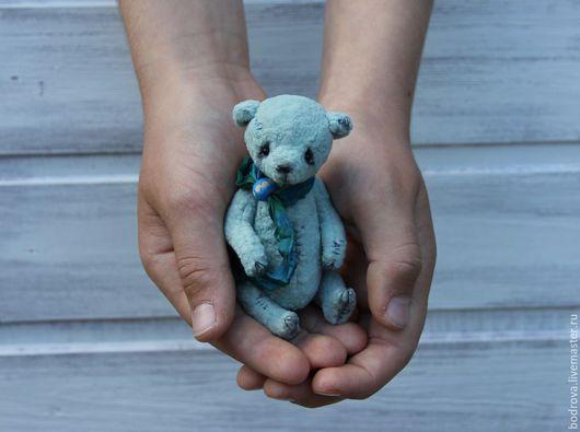 Мишки Тедди ручной работы. Ярмарка Мастеров - ручная работа. Купить Голубчик (10 см). Handmade. Мишка, ручная работа