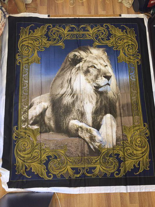 """Шитье ручной работы. Ярмарка Мастеров - ручная работа. Купить Текстильное панно """"Лев 3D"""" 180см/210см, сатин, 100% хлопок. Handmade."""