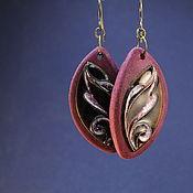Украшения ручной работы. Ярмарка Мастеров - ручная работа Серьги Листья в тонированном дереве. Handmade.
