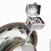 Свадебный салон handmade. Livemaster - original item Silver teaspoon