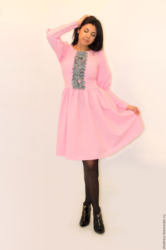 """Платья ручной работы. Ярмарка Мастеров - ручная работа. Купить Для Вас!Нежное платье с вышивкой """"Розовый флокс"""". Handmade."""