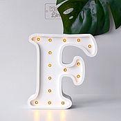 Для дома и интерьера ручной работы. Ярмарка Мастеров - ручная работа Буква с подсветкой на заказ. Handmade.