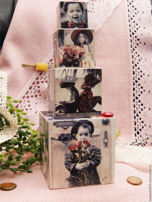 """Подарочные наборы ручной работы. Ярмарка Мастеров - ручная работа. Купить """"Дети - цветы жизни""""- набор из 4 кубиков.. Handmade."""
