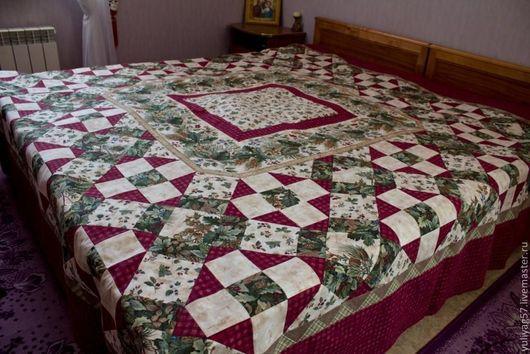 """Текстиль, ковры ручной работы. Ярмарка Мастеров - ручная работа. Купить Покрывало """"Природа"""".. Handmade. Покрывало пэчворк, покрывало на диван"""
