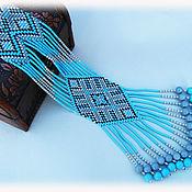 """Украшения ручной работы. Ярмарка Мастеров - ручная работа Гердан """"Голубая мечта"""". Handmade."""