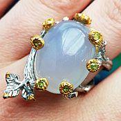Украшения handmade. Livemaster - original item Ring Moon with chalcedony. Handmade.