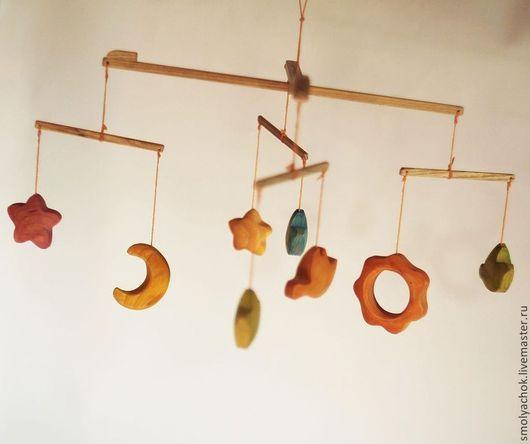 Развивающие игрушки ручной работы. Ярмарка Мастеров - ручная работа. Купить мобиль деревянный  на кроватку (карусель, колыбелька). Handmade. Мобиль