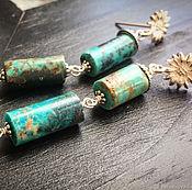 """Украшения ручной работы. Ярмарка Мастеров - ручная работа """"FIRUZI"""" серебряные серьги с бирюзой. Handmade."""