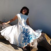 "Одежда handmade. Livemaster - original item Dress ""GZHEL"". Handmade."