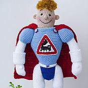 Куклы и игрушки ручной работы. Ярмарка Мастеров - ручная работа Аркадий Паровозов (35 см) игрушка подарок мальчику. Handmade.