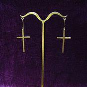 Украшения ручной работы. Ярмарка Мастеров - ручная работа серьги кресты. Handmade.