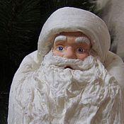 Куклы и игрушки ручной работы. Ярмарка Мастеров - ручная работа Дед Мороз - большой под ёлку, из ваты. Handmade.