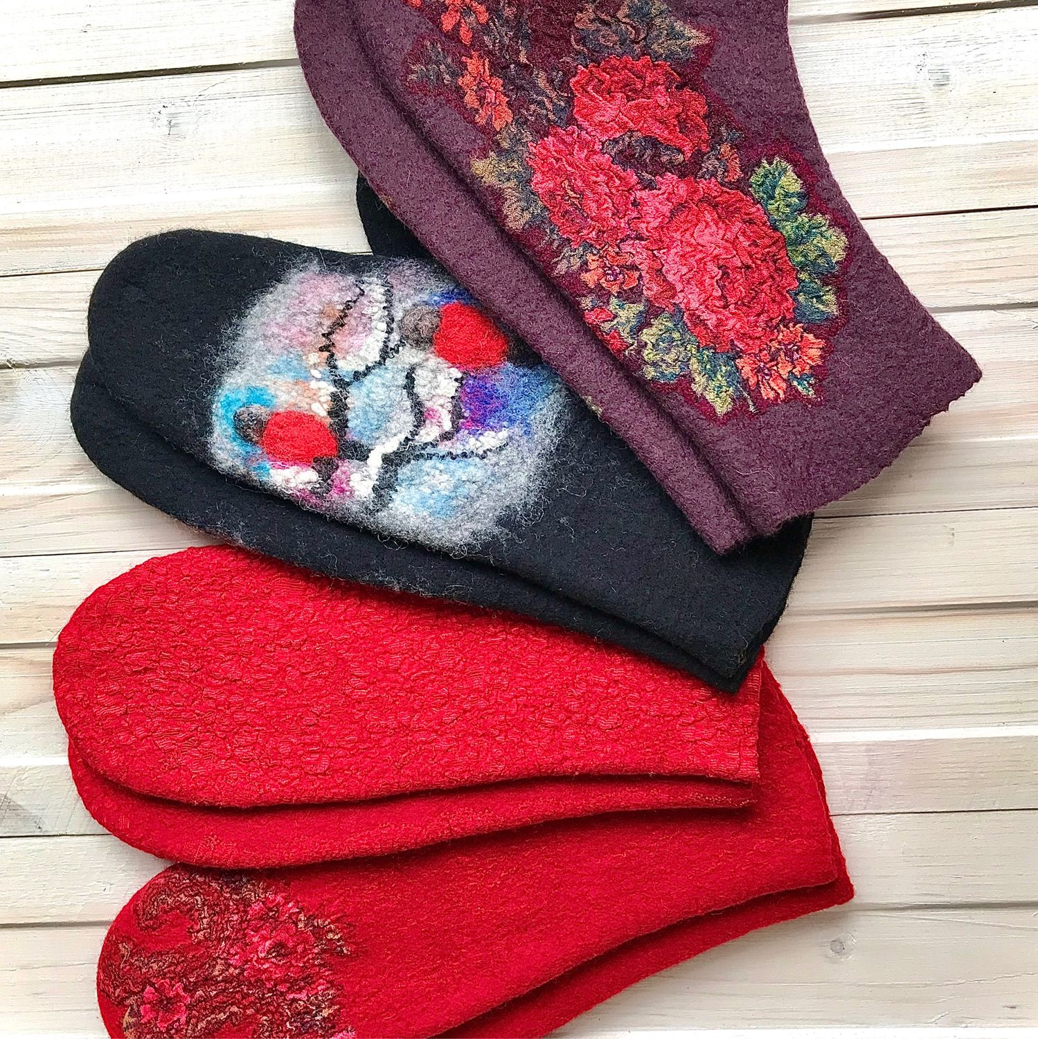 Felted mittens, Mittens, Kostroma,  Фото №1