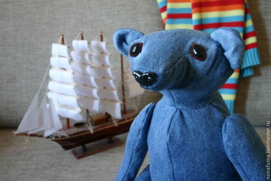 Мишки Тедди ручной работы. Ярмарка Мастеров - ручная работа. Купить тедди медведица Таисия Горчица. Handmade. Тёмно-синий
