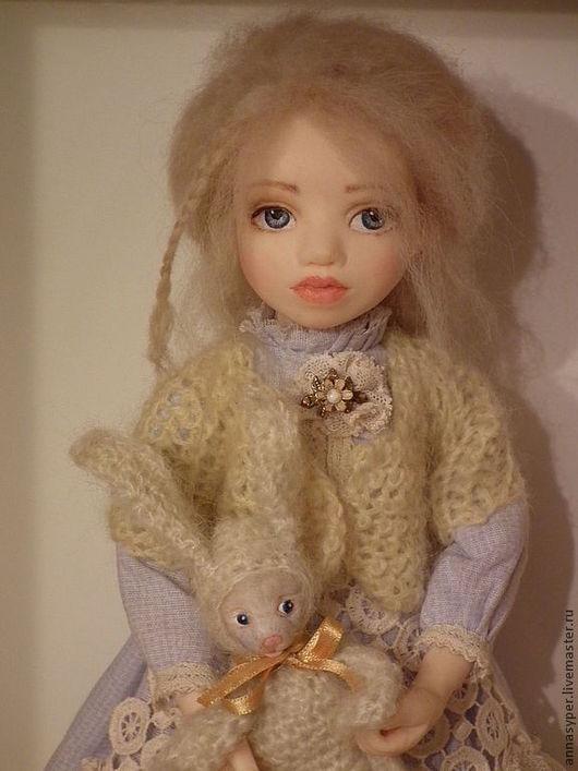 Коллекционные куклы ручной работы. Ярмарка Мастеров - ручная работа. Купить В поисках белого кролика.Алиса. Handmade. Голубой