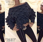 """Одежда ручной работы. Ярмарка Мастеров - ручная работа Вязаный свитер """"Trinity"""" от Olga Lace. Handmade."""
