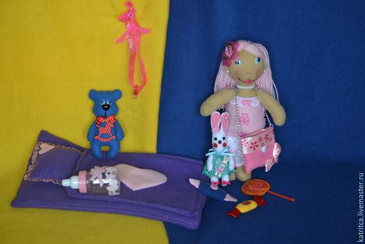Куклы тыквоголовки ручной работы. Ярмарка Мастеров - ручная работа. Купить Набор: куколка и всё для игры с ней. Handmade. Разноцветный