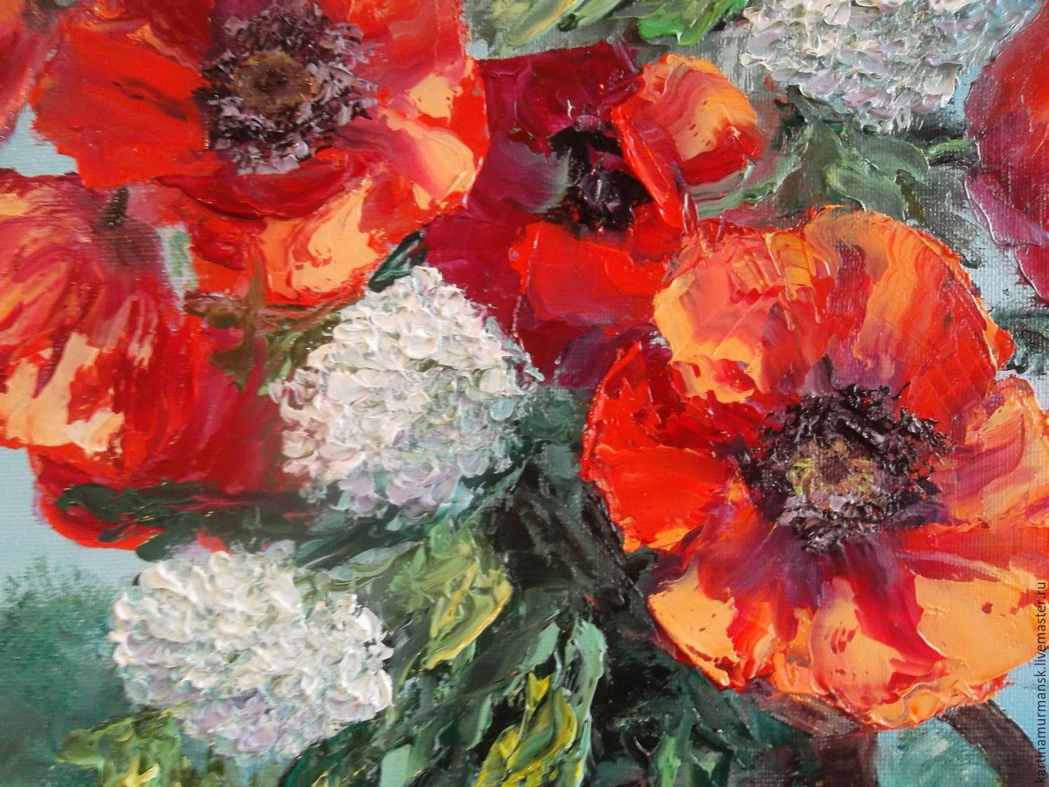 Oil painting with poppies flowers 5040 poppies in the country order oil painting with poppies flowers 5040 poppies in mightylinksfo