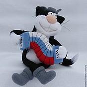 Куклы и игрушки ручной работы. Ярмарка Мастеров - ручная работа Кот с гармошкой Патриот. Handmade.