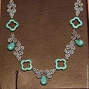 "Украшения handmade. Livemaster - original item Metal necklace with turquoise ""Arcana"". Handmade."