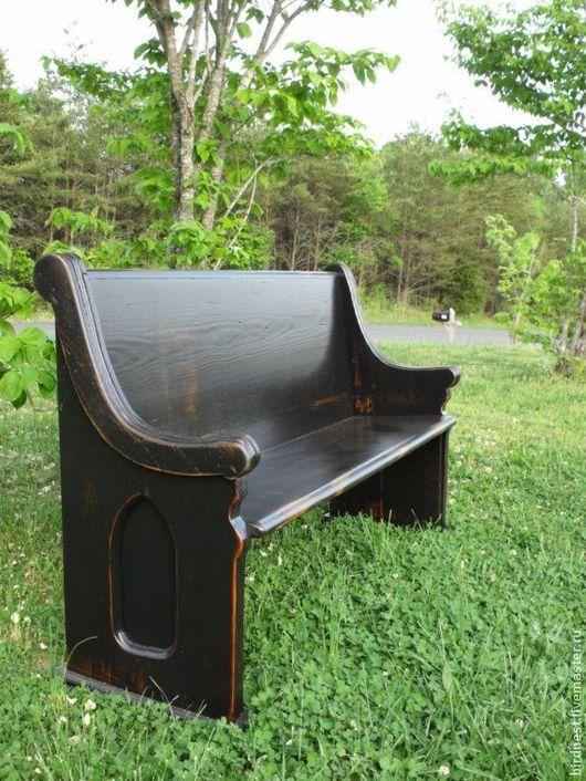 Скамья для дома и сада, выполнена по старинным эскизам церковной скамейки Принимаем заказы на изготовление предметов мебели из НАТУРАЛЬНОГО дерева.
