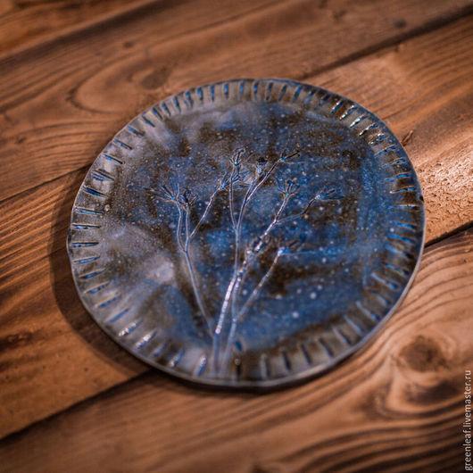 Тарелки ручной работы. Ярмарка Мастеров - ручная работа. Купить Про синие ночные колокольчики. Handmade. Разноцветный, синий, фиолетовый