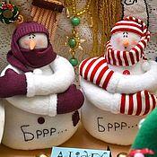 """Подарки к праздникам ручной работы. Ярмарка Мастеров - ручная работа Снеговик """"Бррр..."""". Handmade."""