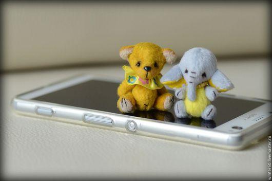 Мишки Тедди ручной работы. Ярмарка Мастеров - ручная работа. Купить Мини-зверики. Handmade. Бежевый, слоник, пластика