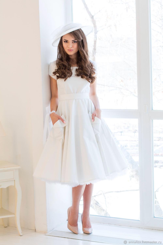 Dress in retro style 'Milk river', Wedding dresses, Moscow,  Фото №1
