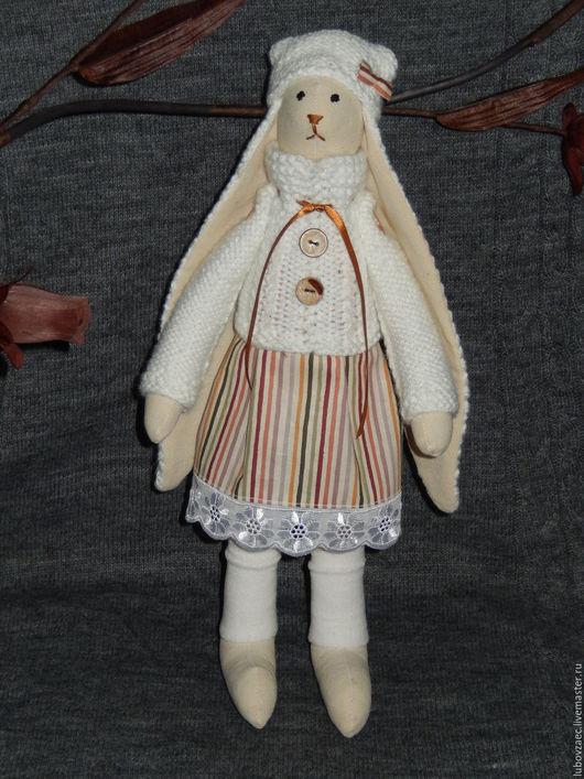 Куклы Тильды ручной работы. Ярмарка Мастеров - ручная работа. Купить Заяц Тильда вязаные уши белый. Handmade. Белый
