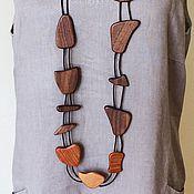 Украшения ручной работы. Ярмарка Мастеров - ручная работа Украшение на шею из дерева. Handmade.