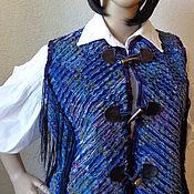 Одежда ручной работы. Ярмарка Мастеров - ручная работа Жилетка в стиле Бохо. Синель. Handmade.
