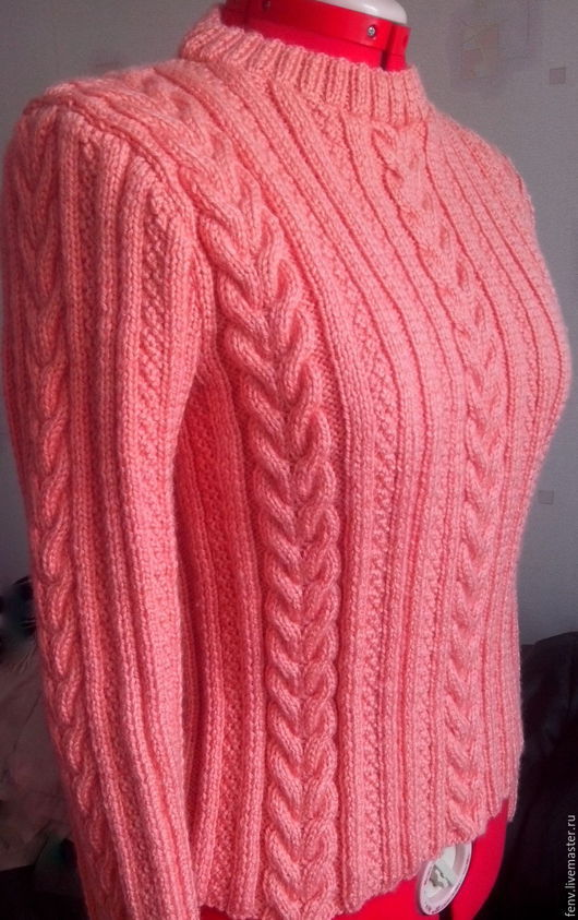 Кофты и свитера ручной работы. Ярмарка Мастеров - ручная работа. Купить Пуловер. Handmade. Свитер, свитер полушерстяной, бежевый