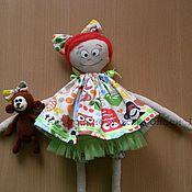 Куклы и игрушки ручной работы. Ярмарка Мастеров - ручная работа Авторская текстильная кукла Анфиса и Коко. Handmade.