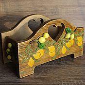 """Для дома и интерьера ручной работы. Ярмарка Мастеров - ручная работа Конфетница, короб для приправ и специй , """"Лимоны"""". Handmade."""