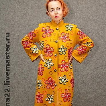 """Одежда ручной работы. Ярмарка Мастеров - ручная работа Вязаное пальто""""Осеннее разнотравье"""". Handmade."""
