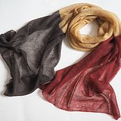 Аксессуары handmade. Livemaster - original item Scarves: Kid mohair knitted stole in autumn colors, stole. Handmade.