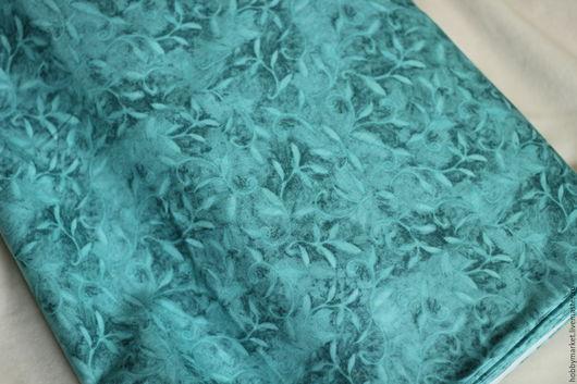 Шитье ручной работы. Ярмарка Мастеров - ручная работа. Купить Ткань хлопок Вьюны ( синие). Handmade. Ткань для творчества