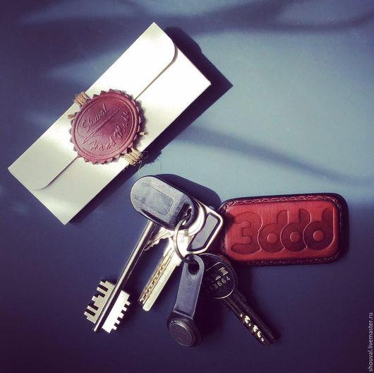 Брелоки ручной работы. Ярмарка Мастеров - ручная работа. Купить Персонализированные брелоки для ключей.. Handmade. Брелок для ключей, кожа натуральная