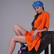 Одежда handmade. Livemaster - original item МГ_027 Dress EMBROIDERED with orange wings. Handmade.