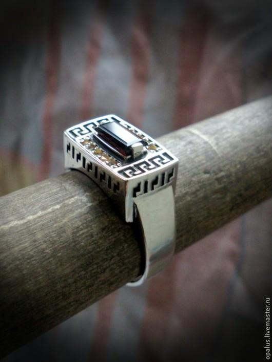 """Украшения для мужчин, ручной работы. Ярмарка Мастеров - ручная работа. Купить Перстень """"Паладин"""". Handmade. Ярко-красный, Серебрянное кольцо"""