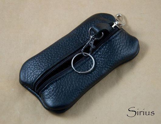 Ключницы ручной работы. Ярмарка Мастеров - ручная работа. Купить Ключница черная. Handmade. Ключница, ключница из кожи, натуральная кожа